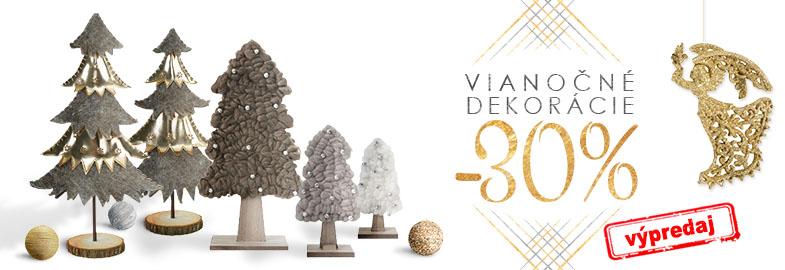 Christmas sale ▻ Vianočné ozdoby a dekorácie -30% Páčila sa ti ponuka ozdôb  na stromček a vianočných dekorácii  Teraz ich môžeš mať za skvelú cenu! 338ad80b133