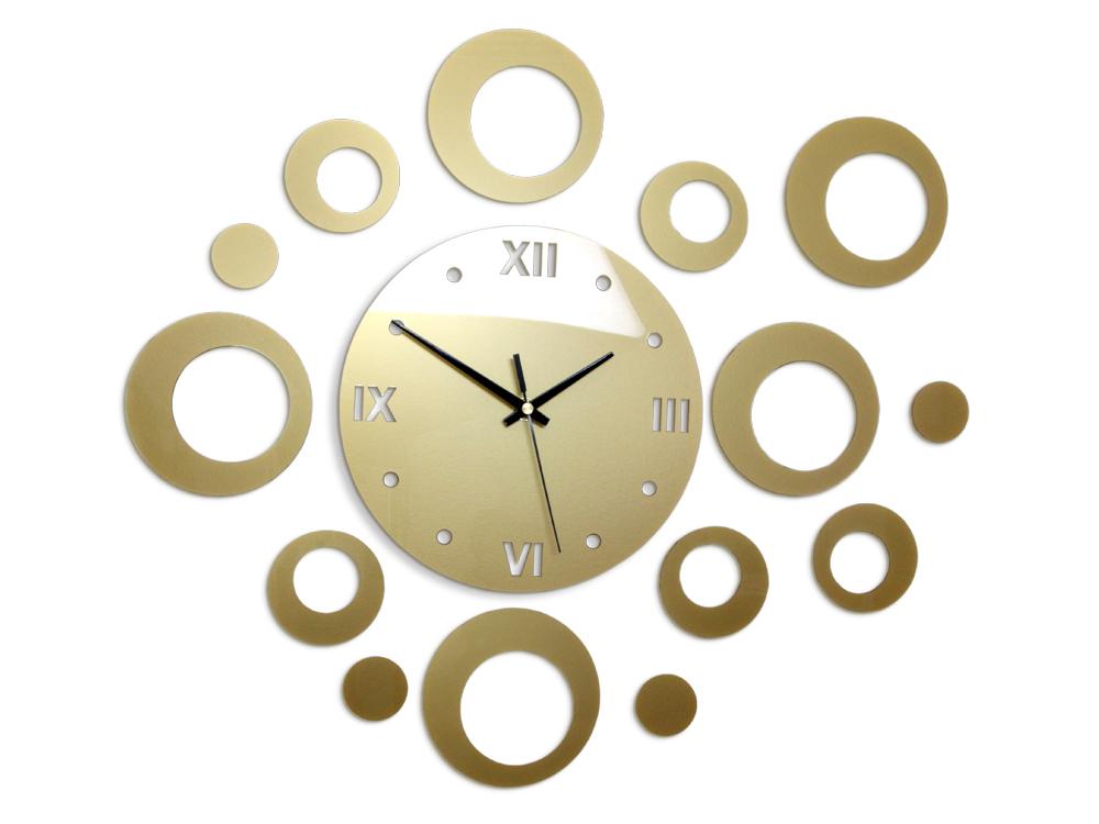 4c373dee4e1 Moderné nástenné hodiny RINGS GOLD HMCNH008-gold empty